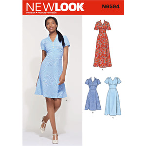 New Look Sewing Pattern 6594  Dress In Three Lengths