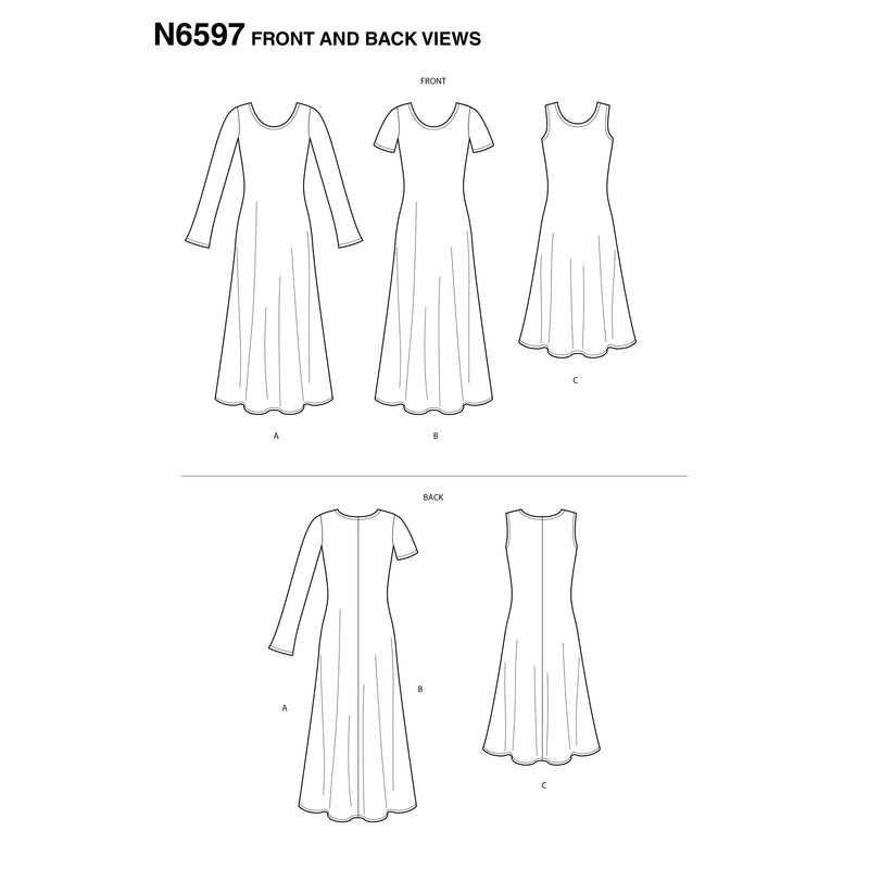 New Look Sewing Pattern 6597  Knit Dress