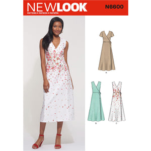 New Look Sewing Pattern 6600  Wrap Dress from Jaycotts Sewing Supplies