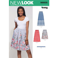 New Look Sewing Pattern 6605  Skirt with Neck Tie from Jaycotts Sewing Supplies