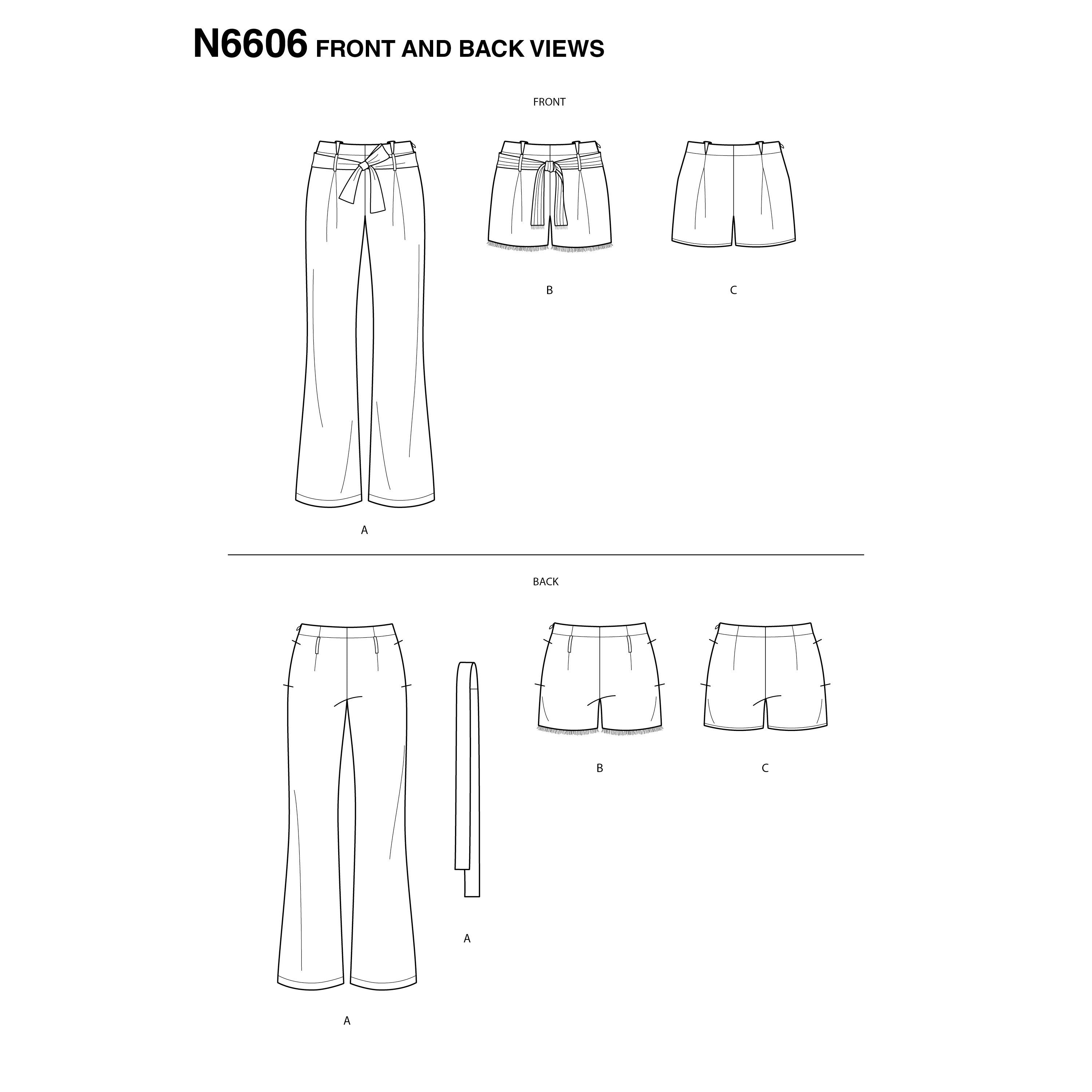 New Look Sewing Pattern 6606  Pant and Shorts