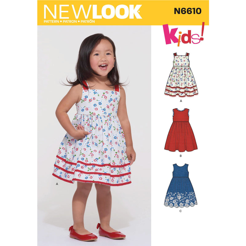 New Look Sewing Pattern 6610 Toddlers' Dress