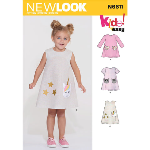 New Look Sewing Pattern 6611 Children's Novelty Dress