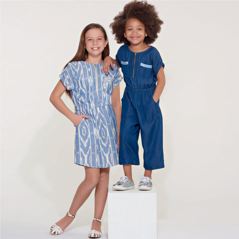 New Look Sewing Pattern 6612 Girls' Jumpsuit, Romper and Dress