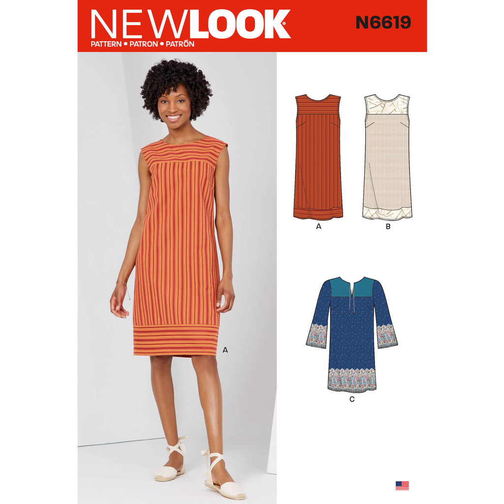 New Look Sewing Pattern 6619 Dresses Pattern
