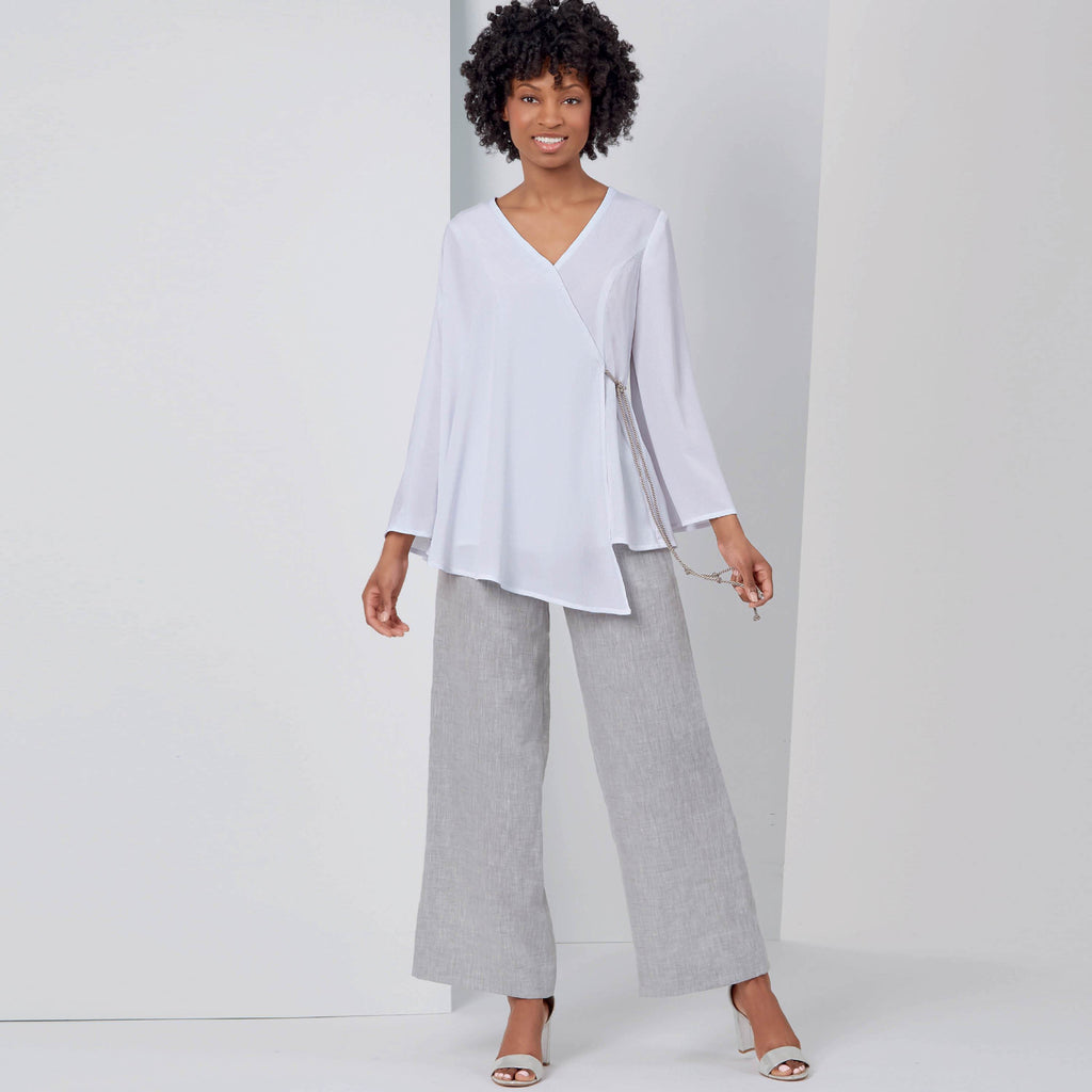 New Look Sewing Pattern 6625  Tops And Pull On Pants