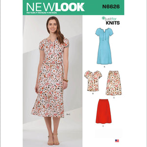 New Look Sewing Pattern 6626 from Jaycotts Sewing Supplies