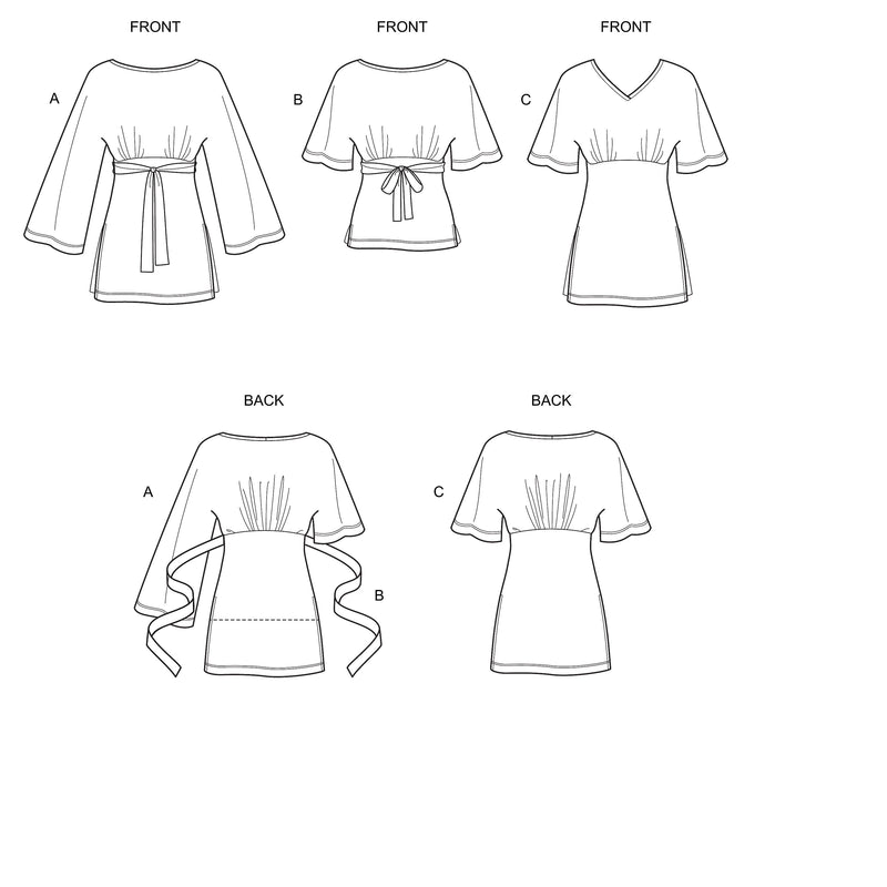 New Look Sewing Pattern N6638  Knit Tops