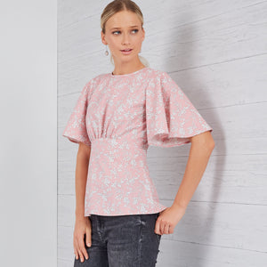New Look Sewing Pattern 6656  Top from Jaycotts Sewing Supplies