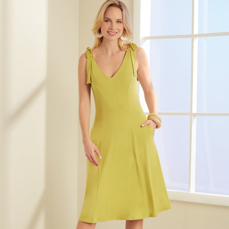 New Look Sewing Pattern 6669 Misses' Dress, designed for stretch knits