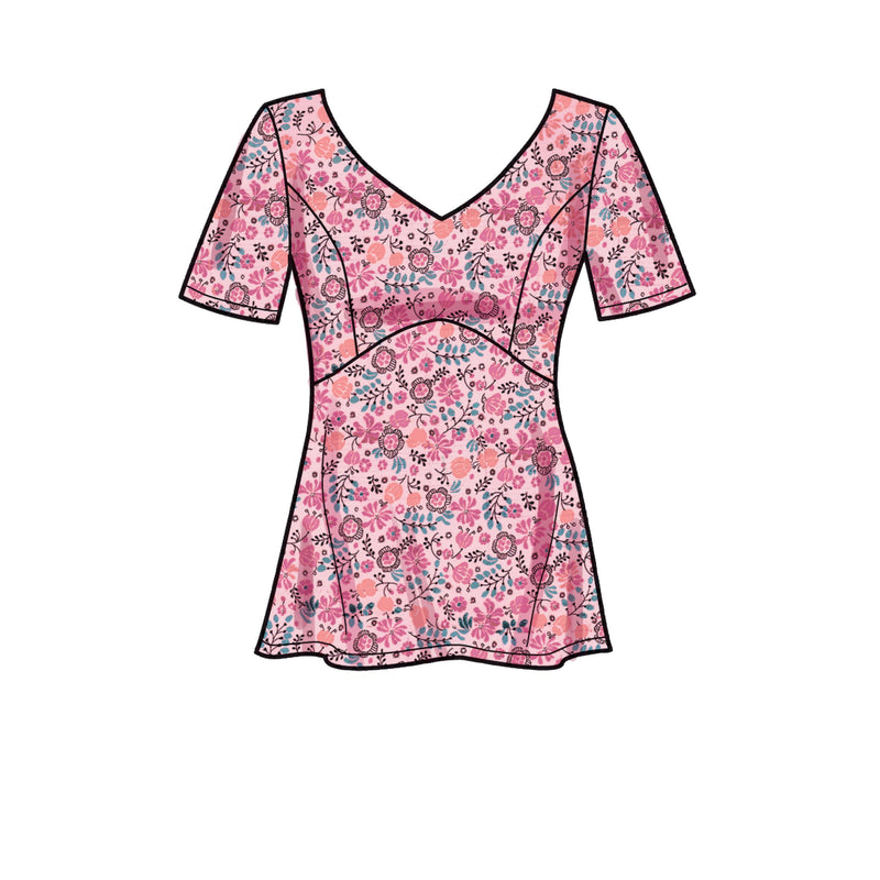 New Look Sewing Pattern 6673 Misses' Tops
