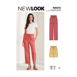 New Look Sewing Pattern 6674 Misses' Trousers and Shorts from Jaycotts Sewing Supplies