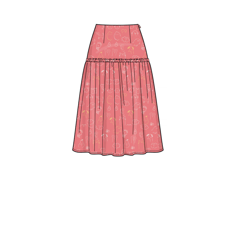 New Look Sewing Pattern 6676 Misses Skirts