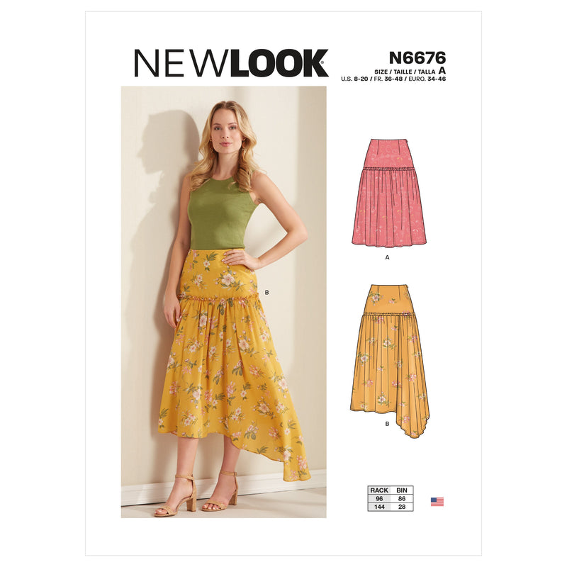 New Look Sewing Pattern 6676 Misses Skirts from Jaycotts Sewing Supplies