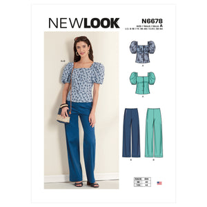 New Look Sewing Pattern 6678 Misses' Top and Trousers from Jaycotts Sewing Supplies