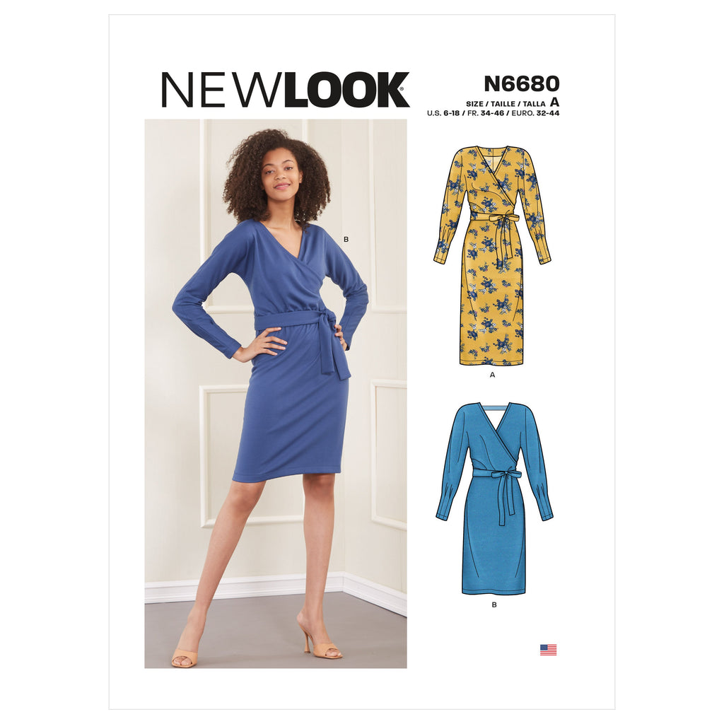 New Look Sewing Pattern 6680 Knit Dress from Jaycotts Sewing Supplies