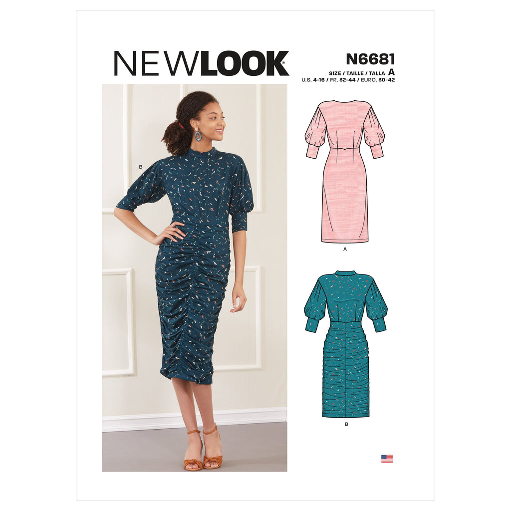 New Look Sewing Pattern 6681  Dress from Jaycotts Sewing Supplies