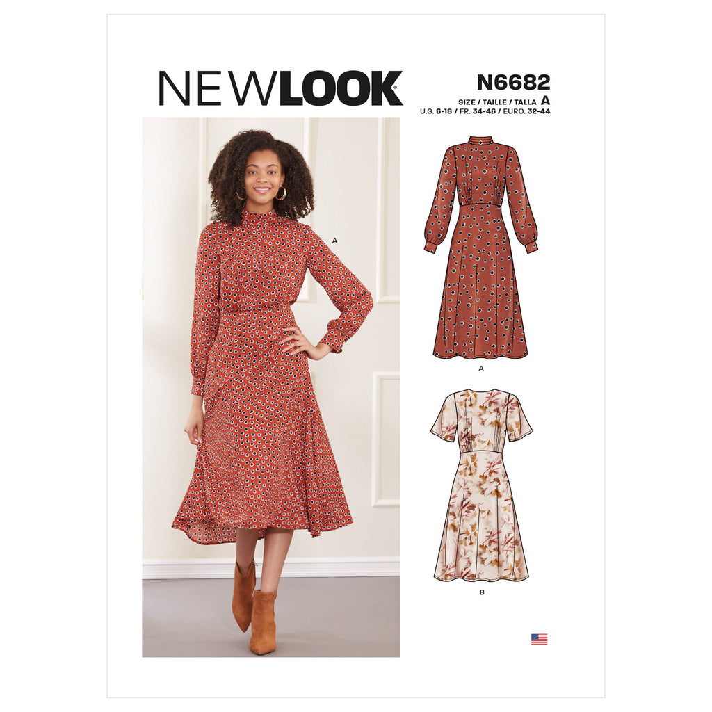 New Look Sewing Pattern 6682  Dresses from Jaycotts Sewing Supplies
