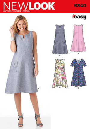 New Look 6340   Multi size sewing pattern