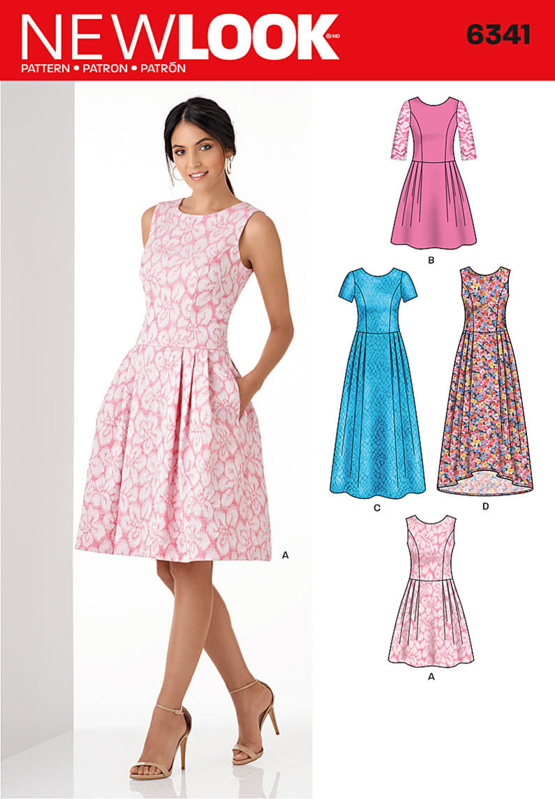 New Look 6341 Multi size sewing pattern