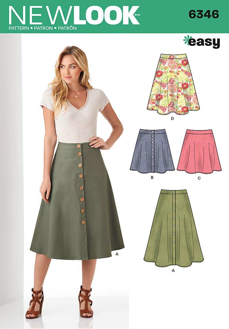 New Look 6346 Multi size sewing pattern.