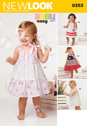 NL6353 Babies' Dresses & Panties | Easy