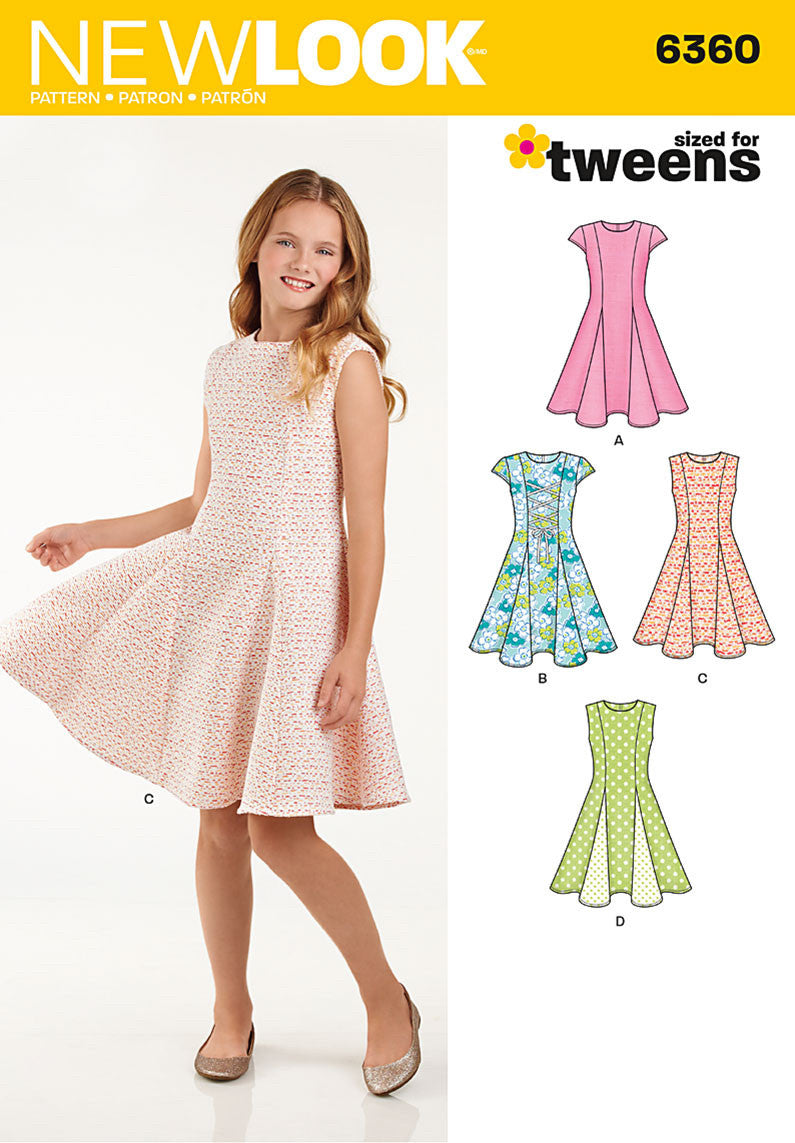 NL6360 Tween Girls' Dress from Jaycotts Sewing Supplies