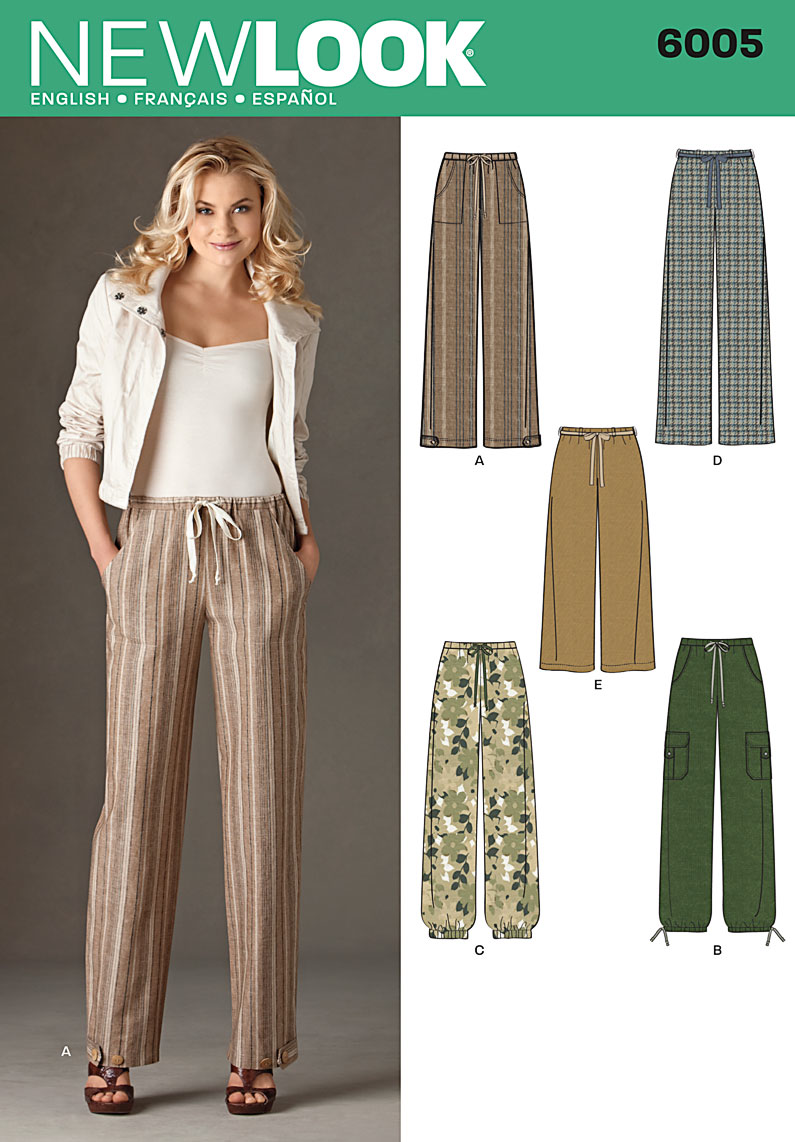 New Look Sewing Pattern 6005 | Pull on Pants with pockets