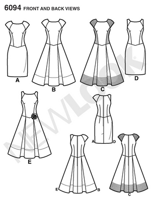NL6094 Misses' Dress pattern from Jaycotts Sewing Supplies