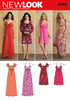 New Look Sewing Pattern 6096 | Design Your Look dress in knee or maxi length