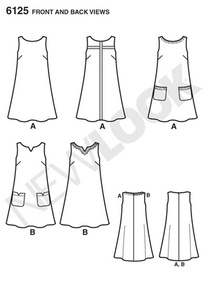 NL6125 Misses' Dress Pattern | Easy