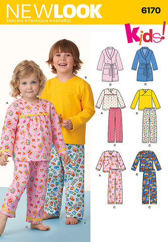 New Look Sewing Pattern 6170 | Toddler's and child's pyjamas