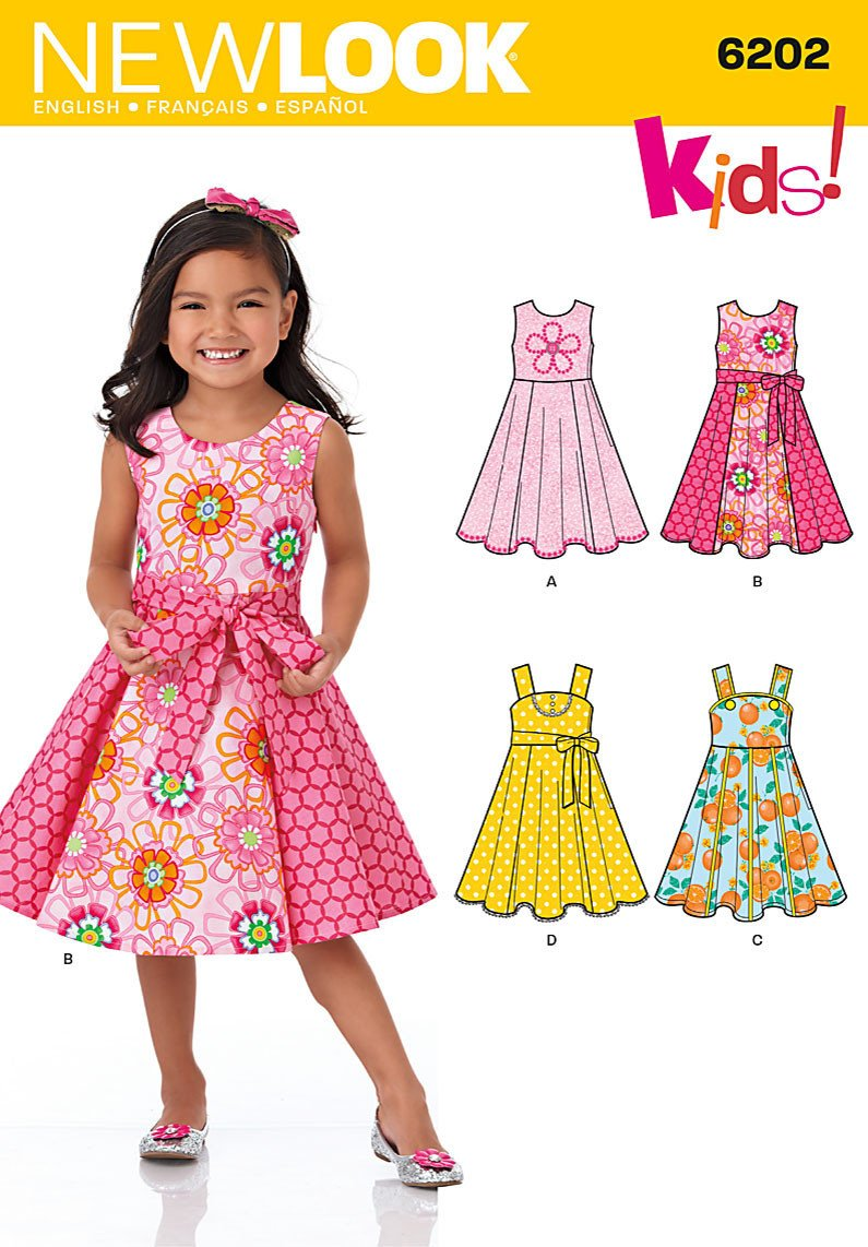 New Look Sewing Pattern 6202 | Child's dress with circle skirt