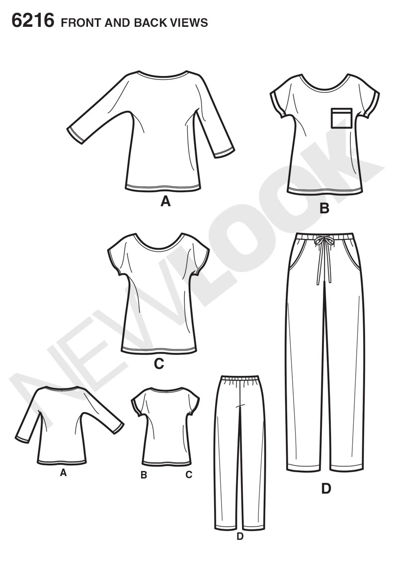 New Look Sewing Pattern 6216 | Misses' easy knit top