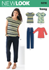 NL6216 Misses' Knit Tops & Pants | Easy