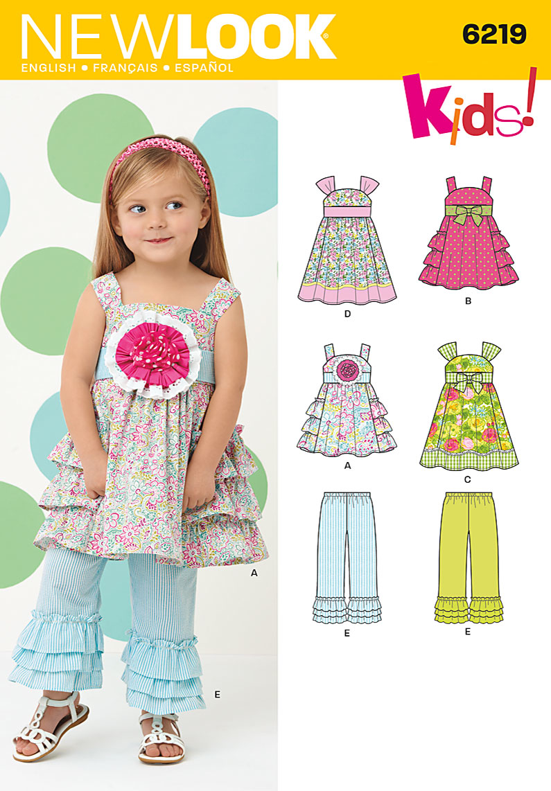 New Look Sewing Pattern 6219 |Toddlers' dress in two lengths