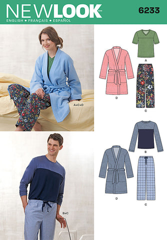 New Look Sewing Pattern 6233 | Unisex loungewear