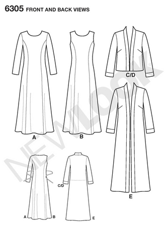 New Look 6305   Multi size sewing pattern