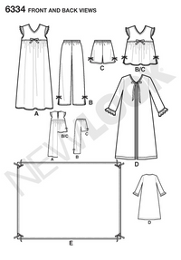 New Look 6334   Multi size sewing pattern