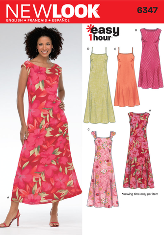 New Look 6347 Multi size sewing pattern.