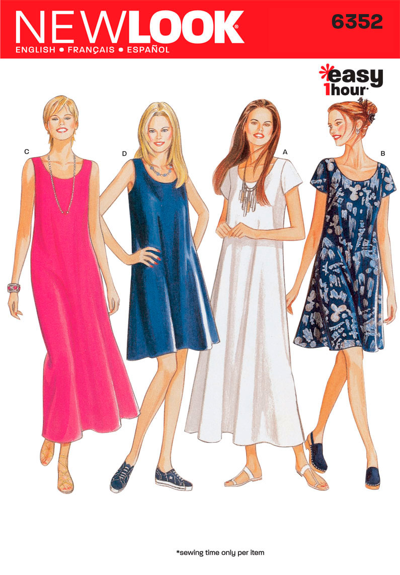 New Look 6352  Multi size sewing pattern
