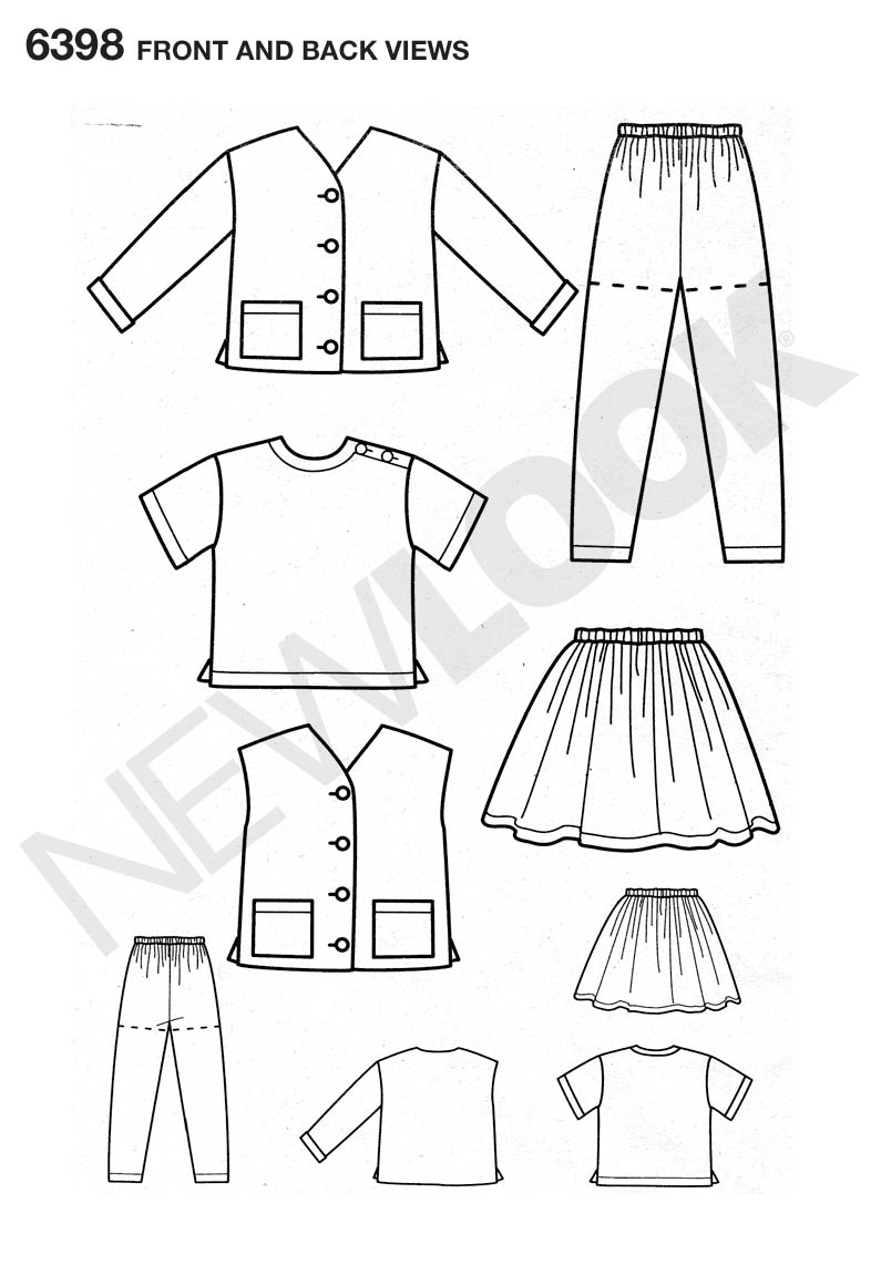 New Look 6398 Multi size sewing pattern