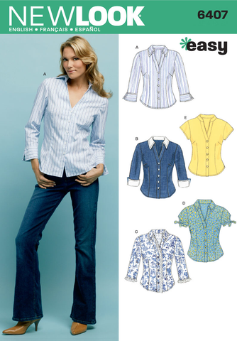 New Look 6407 Multi size sewing pattern