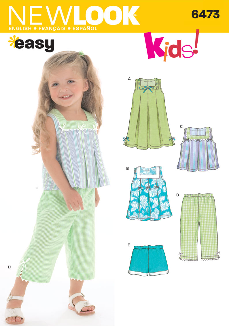 New Look Pattern: NL6473 Toddler Separates | Easy — jaycotts.co.uk ...