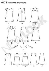 NL6478 Child Dress | Easy from Jaycotts Sewing Supplies
