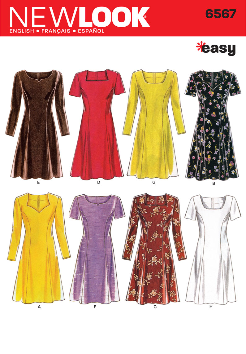 New Look 6567 sewing pattern.