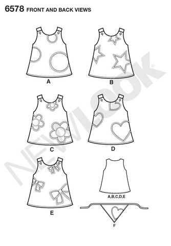 NL6578 Toddler Dress | Easy