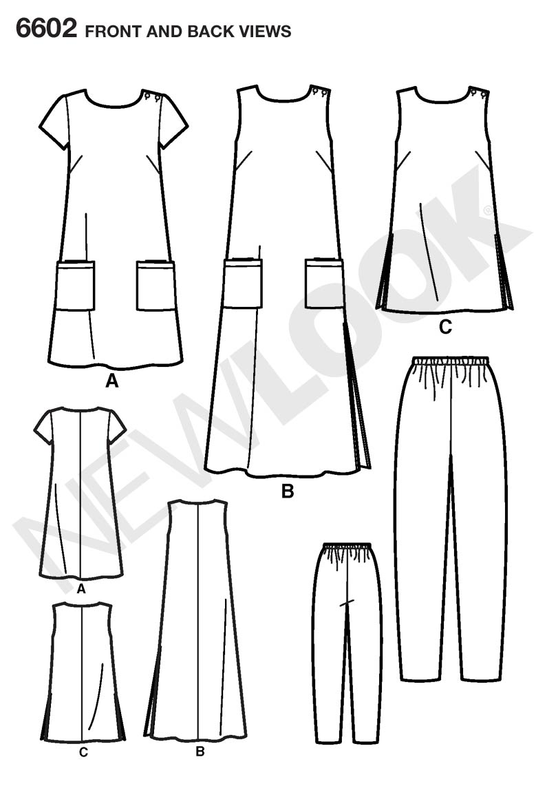 New Look 6602 sewing pattern