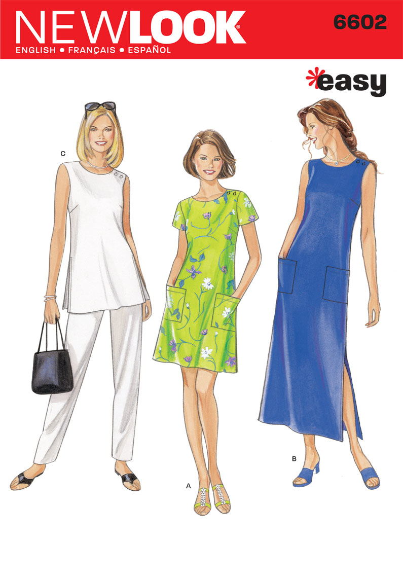Easy to sew sewing patterns jaycotts sewing supplies nl6602 misses dress easy jeuxipadfo Choice Image