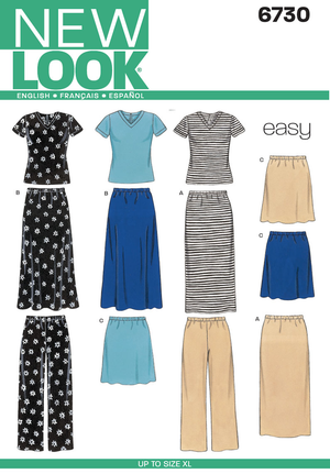 New Look 6730 sewing pattern